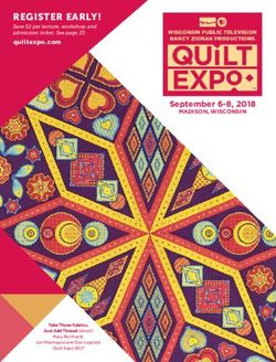 REGISTER EARLY! - quiltexpo.com Save $2 per lecture, workshop and admission ticket. See page 23.