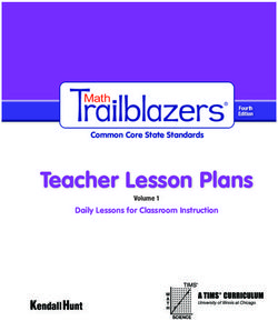 Teacher Lesson Plans - Common Core State Standards