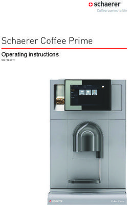Schaerer Coffee Prime Operating instructions