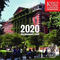 2020 POSTGRADUATE GUIDE - KING'S COLLEGE LONDON