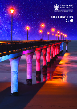 MASSEY UNIVERSITY - 2020 YOUR INTERNATIONAL PROSPECTUS
