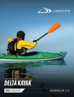FIND YOUR FIT IN A DELTA KAYAK