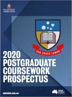 2020 POSTGRADUATE COURSEWORK PROSPECTUS - THE UNIVERSITY of ADELAIDE