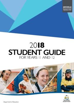 2018 STUDENT GUIDE - FOR YEARS 11 AND 12