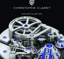 Christophe Claret Collection 2018-2019