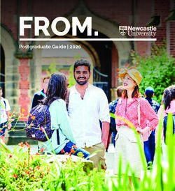 Postgraduate Guide 2020 - Newcastle University
