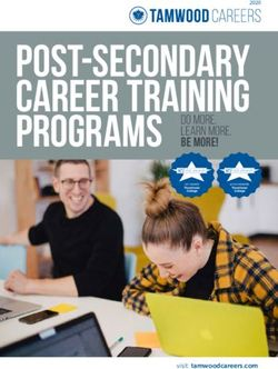 Post-Secondary Career Training Programs - Tamwood Careers 2020