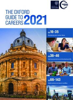THE OXFORD GUIDE TO CAREERS 2021