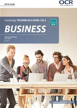 Cambridge Technicals Level 2 & 3 Business - Summary Brochure 2017/2018
