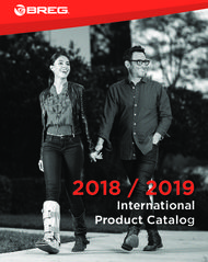 2018 / 2019 International Product Catalog - BREG