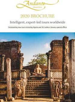 ANDANTE TRAVELS 2020 BROCHURE - Intelligent, expert-led tours worldwide