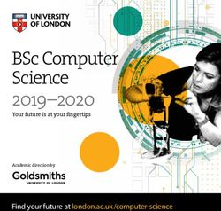 2019-2020 BSc Computer Science - University of London