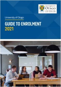 GUIDE TO ENROLMENT 2021 - University of Otago